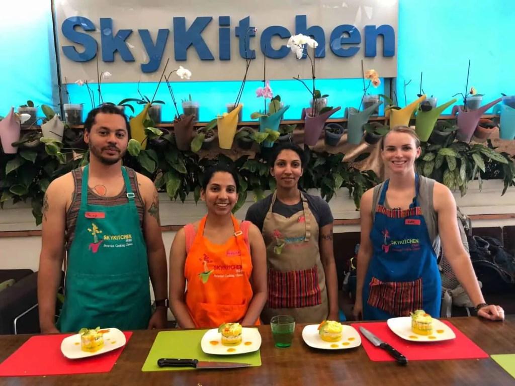 Peruvian cooking classes at Skykitchen in Lima, Peru