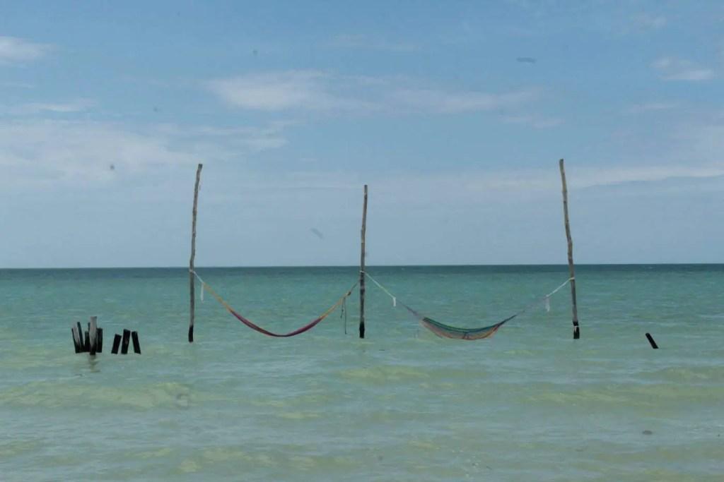 overwater hammocks on Holbox
