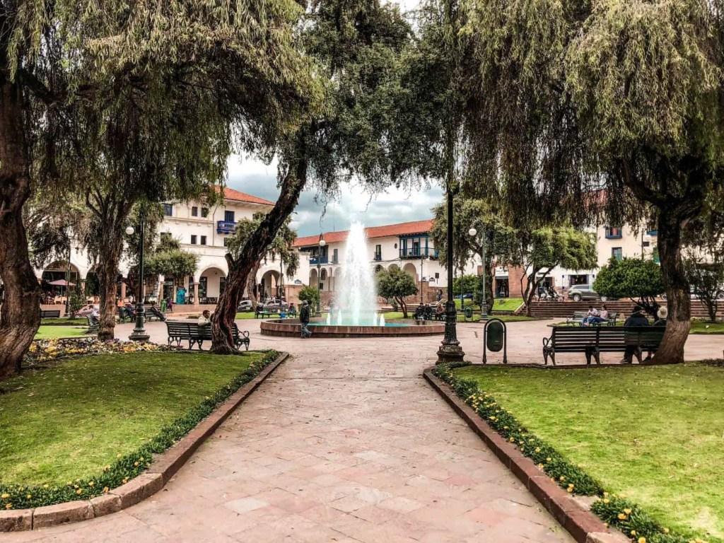 Plaza El Regocijo in Cusco Peru