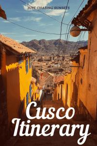 Cusco itinerary