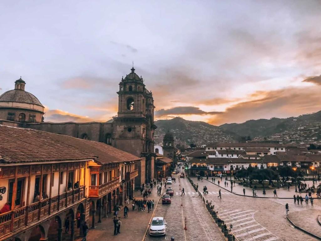 Sunset in Plaza de Armas