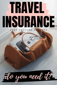 travel insurance do you need it?