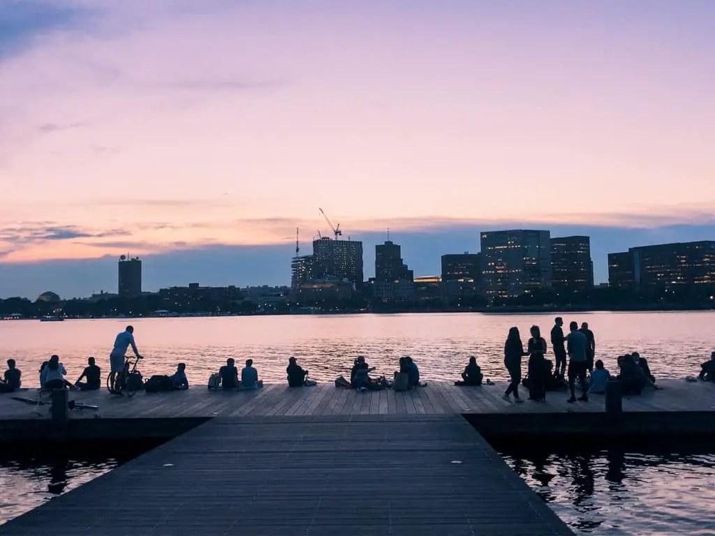 Charles River Esplanade at Sunset