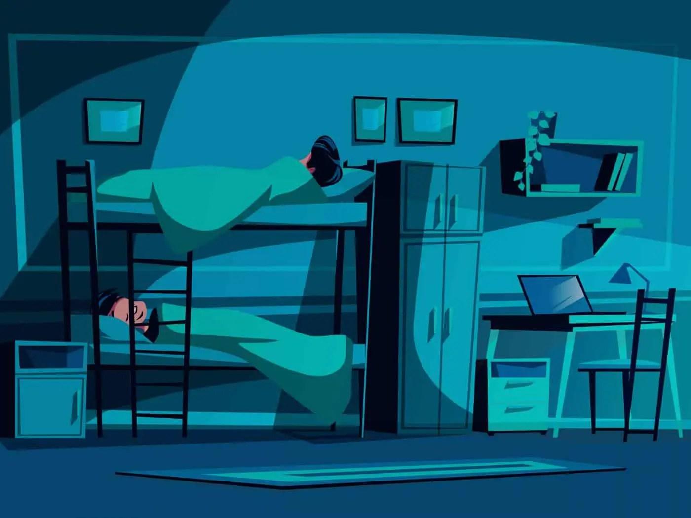 Hostel Rule: Respect Lights out in hostel
