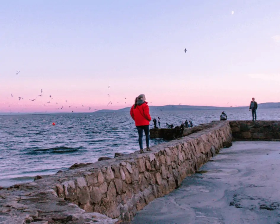 sunset on the Salthill Prom in Galway