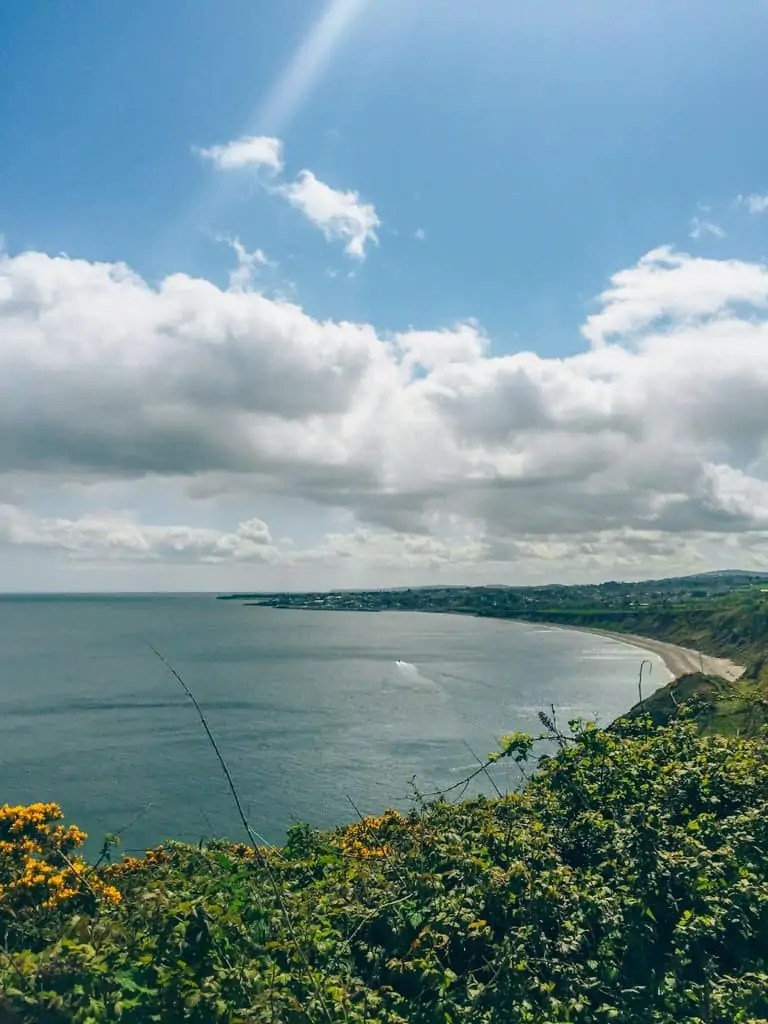 The view into Greystones from Bray