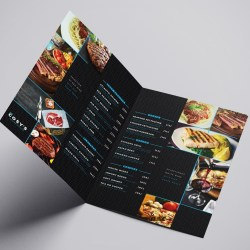 A3 Folded Menus with lamination