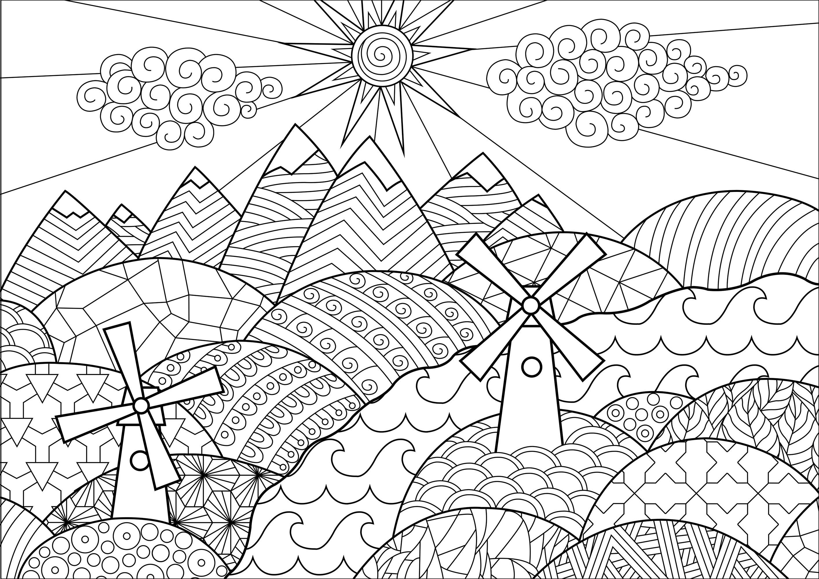 Landschaften 33152 - Landschaften - Malbuch Fur Erwachsene