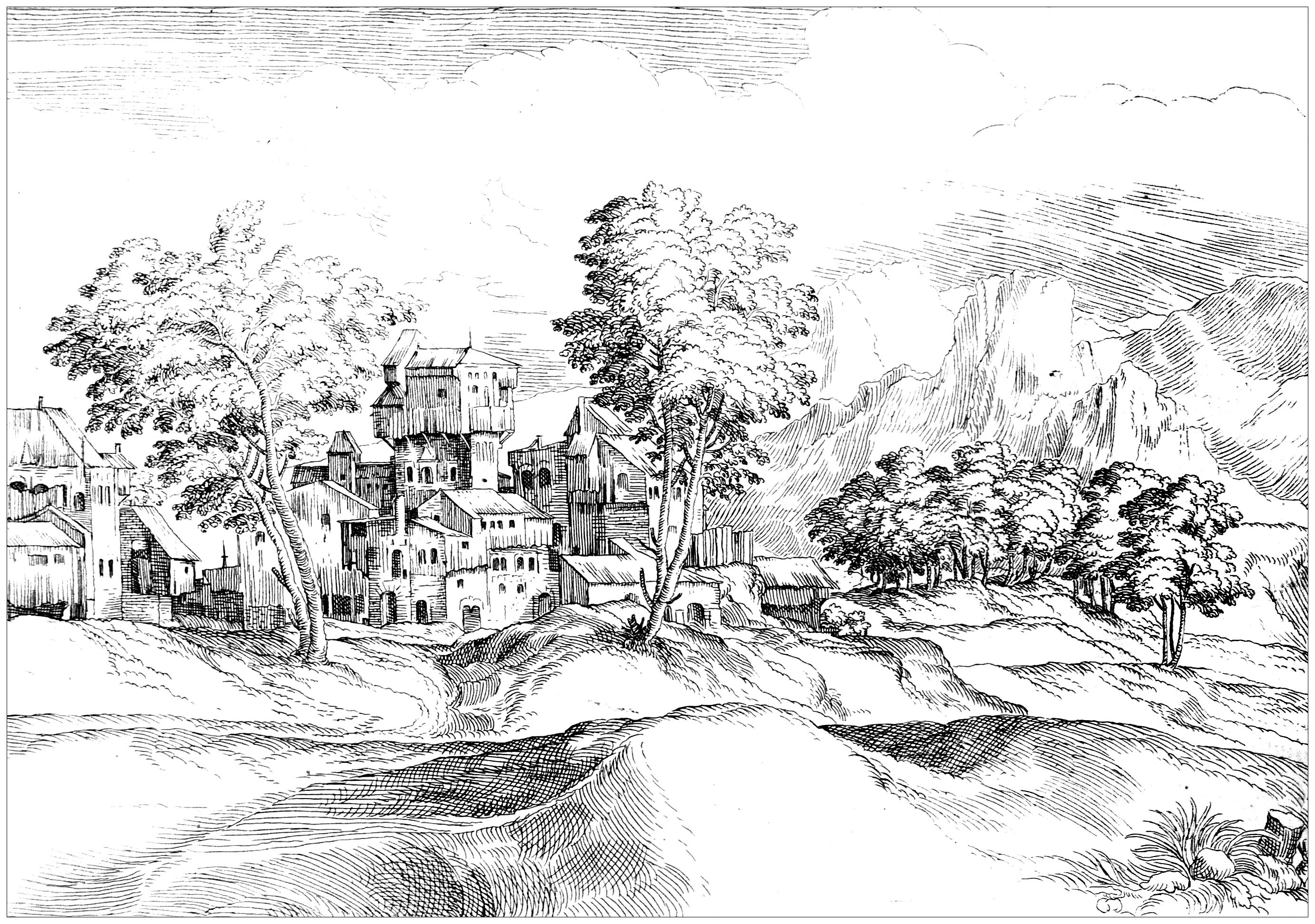Landschaften 46757 - Landschaften - Malbuch Fur Erwachsene