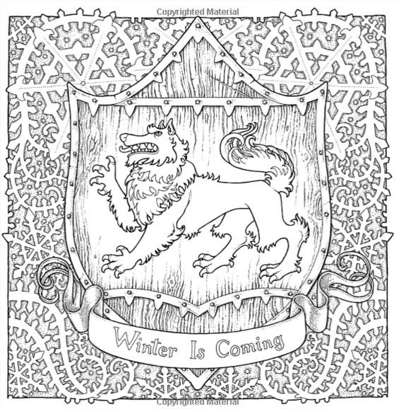 S Fr Nouveau Livre De Coloriage Game Thrones Official Coloring Book