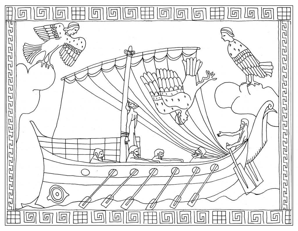 Notre nouveau coloriage sur l'Odyssée d'Homère