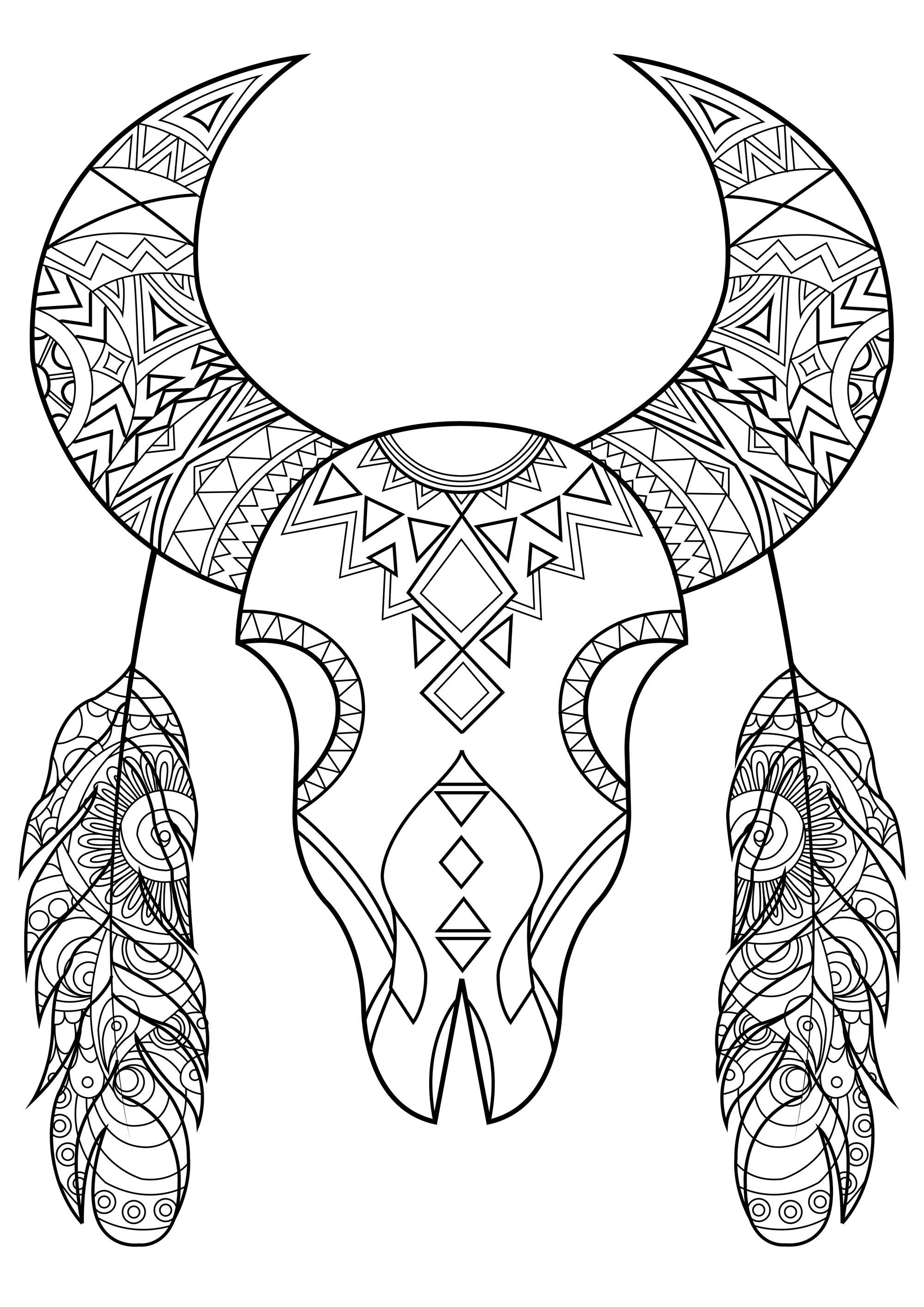 Crane De Bison Stylise