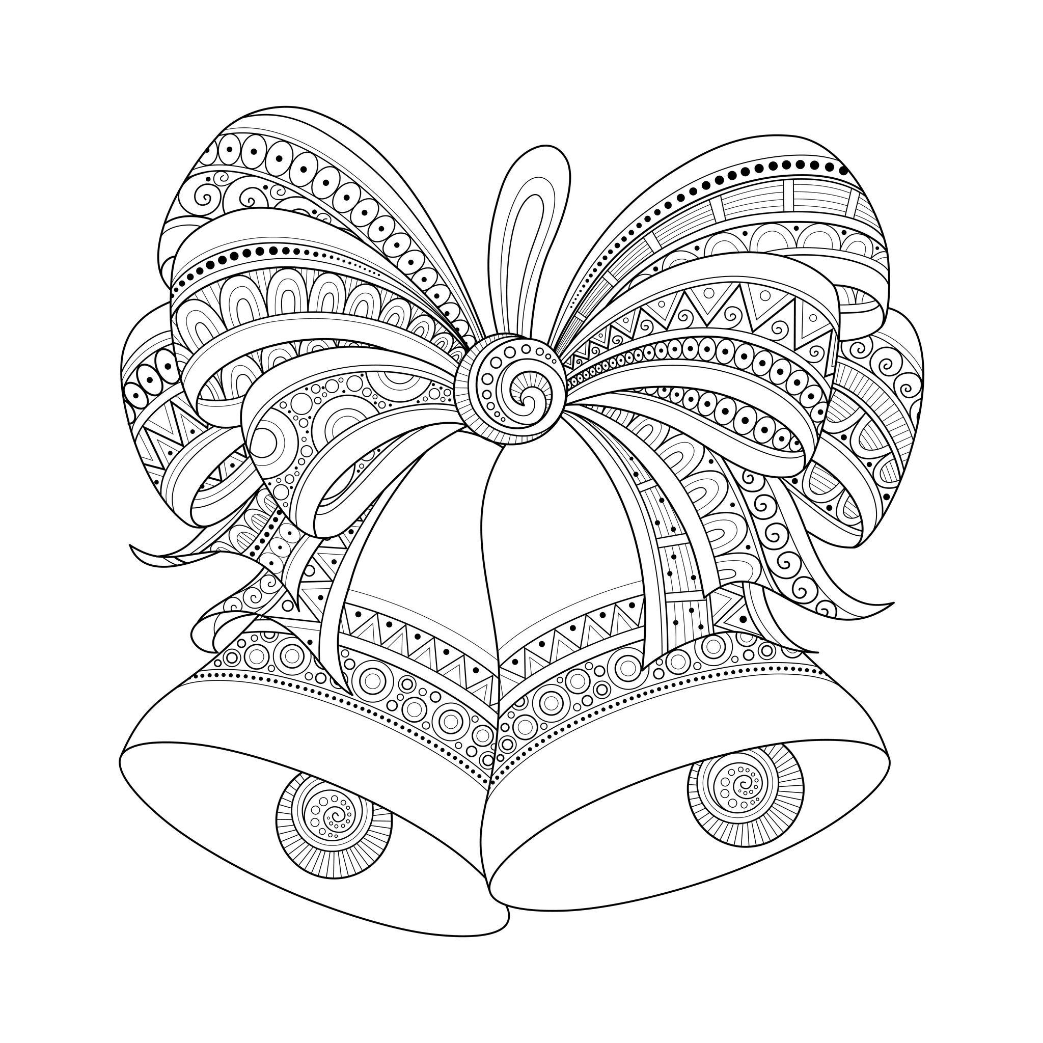Cloches De Noel Zentangle Style