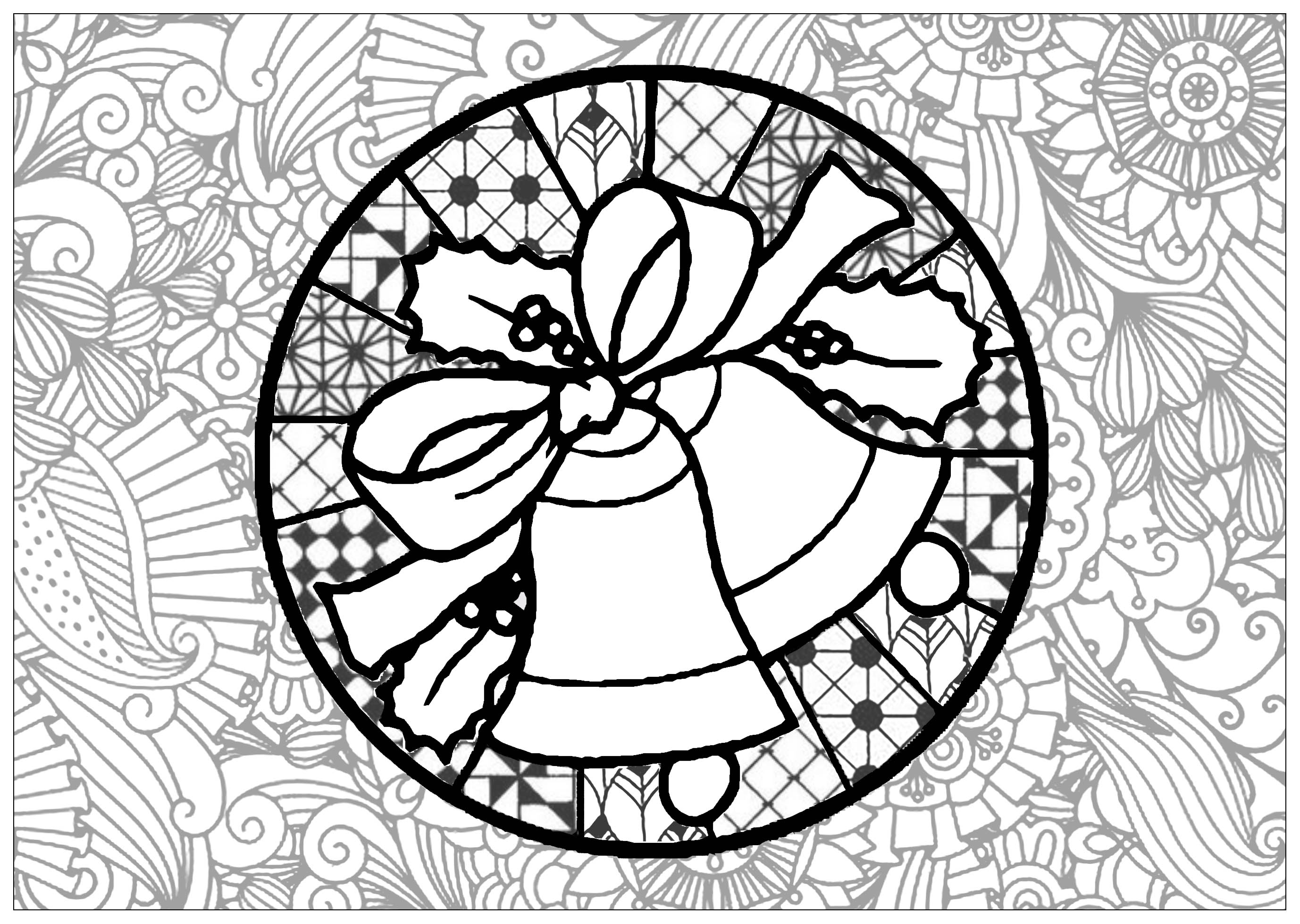 Bells Candles Coloring Pages