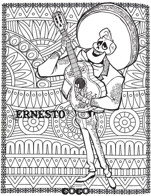 Disney coco ernesto - Retour en enfance - Coloriages difficiles