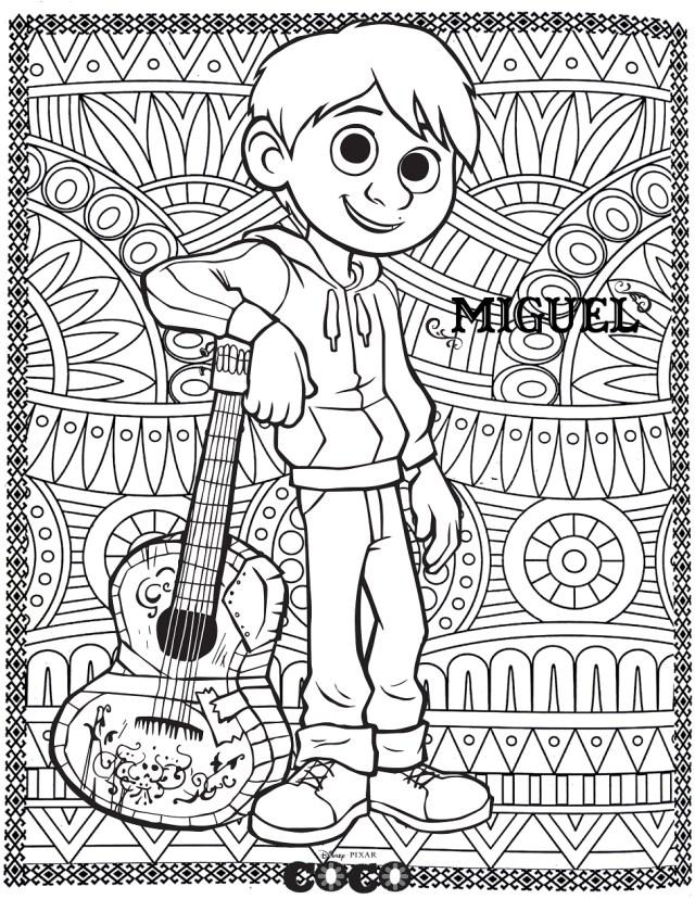 Disney coco miguel - Retour en enfance - Coloriages difficiles