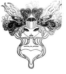 Tatoo princesse Tatouages Coloriages difficiles pour