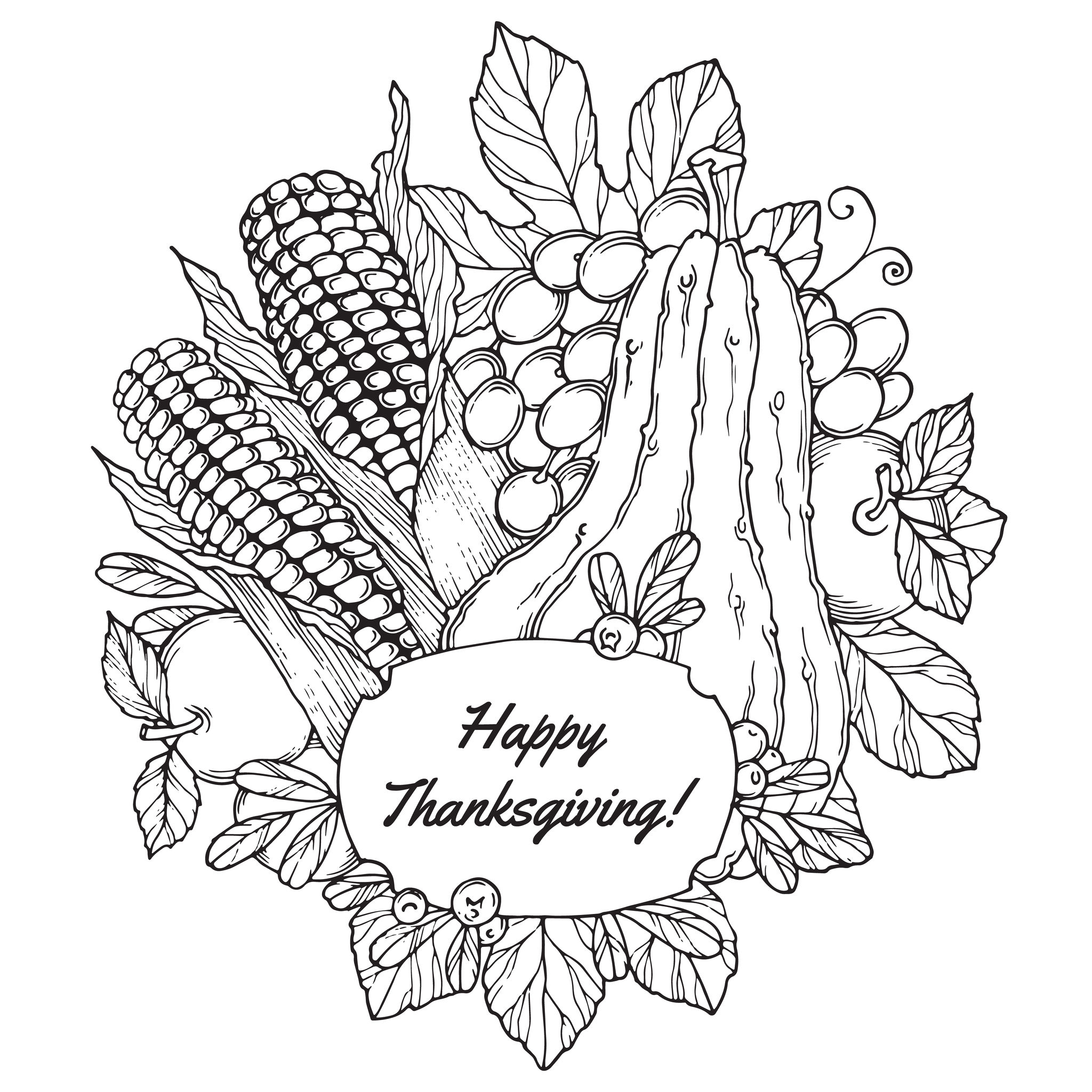 Thanksgiving Fruits Thanksgiving Coloriages Difficiles