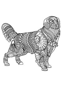 Cani 92603 - Cani - Disegni da colorare per adulti
