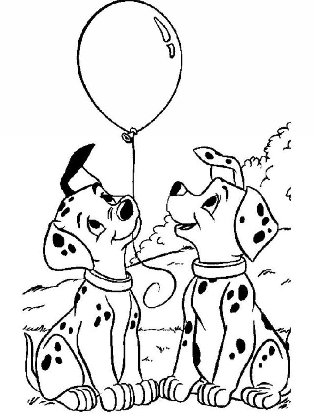 29 dalmatians to print for free - 29 Dalmatians Kids Coloring Pages