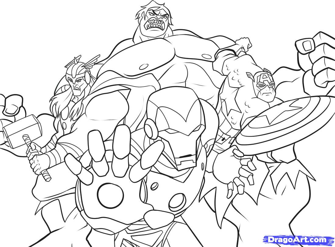 Avengers to print for free - Avengers Kids Coloring Pages