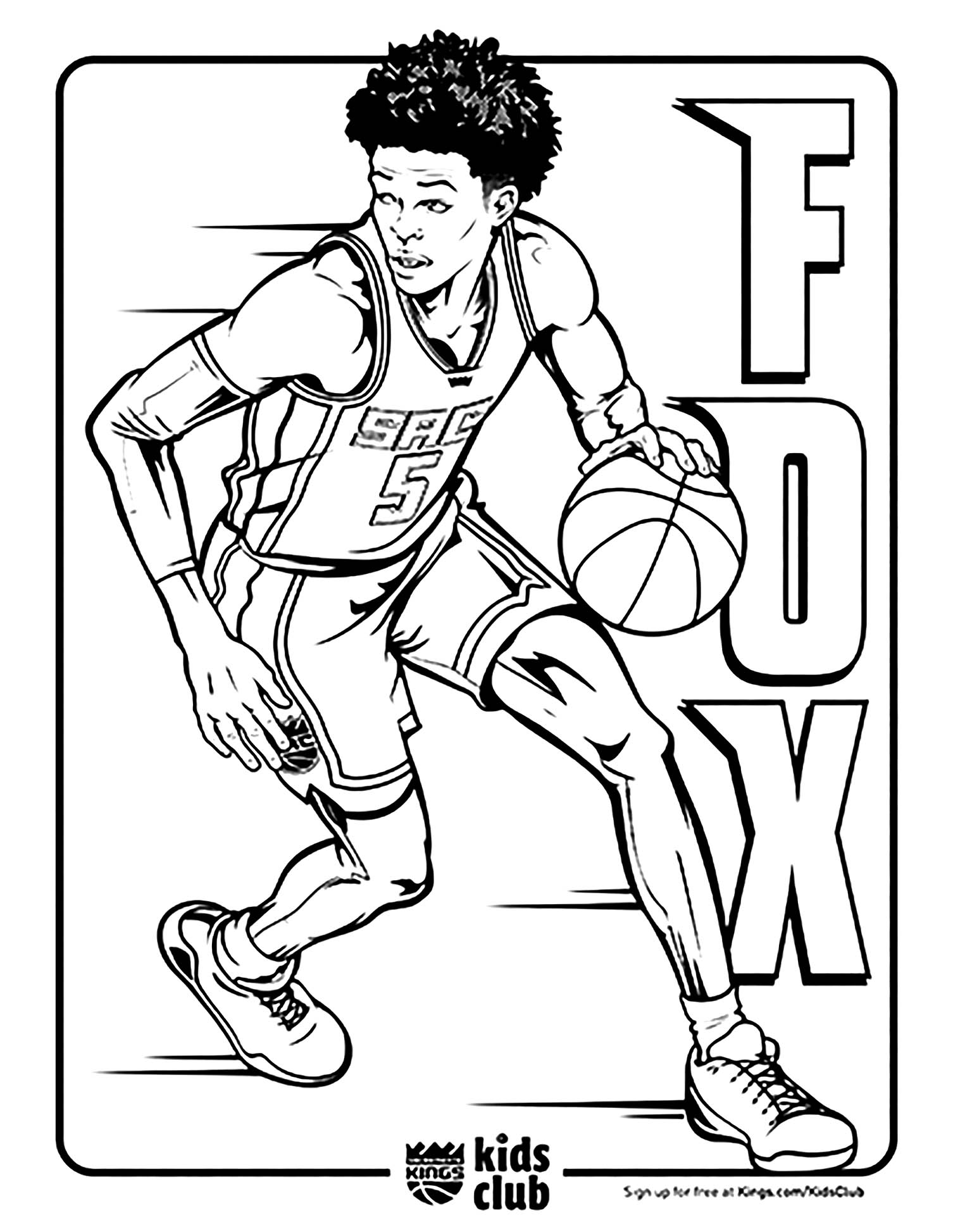 Basketball Free To Color For Children