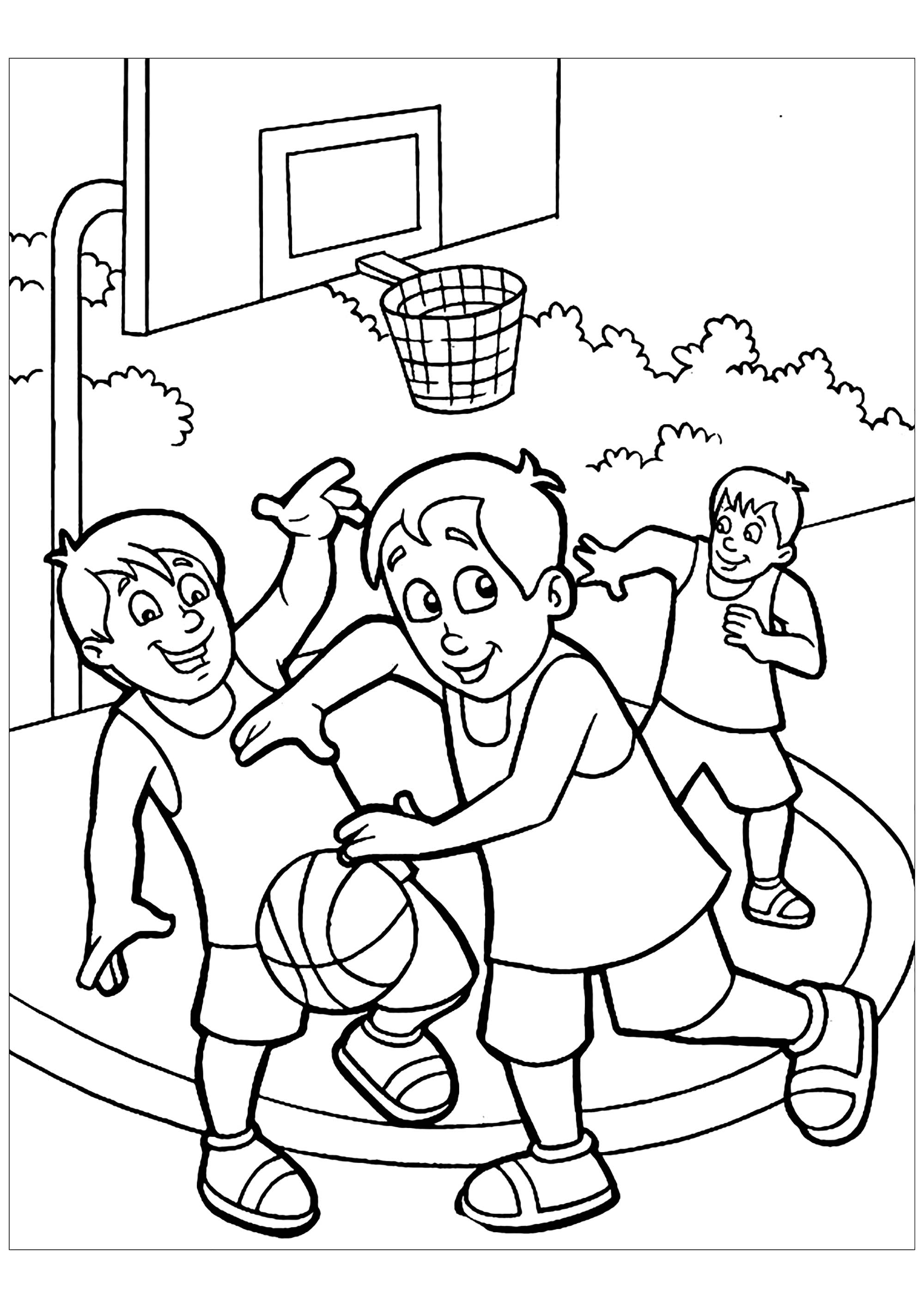 Basketball Free To Color For Kids