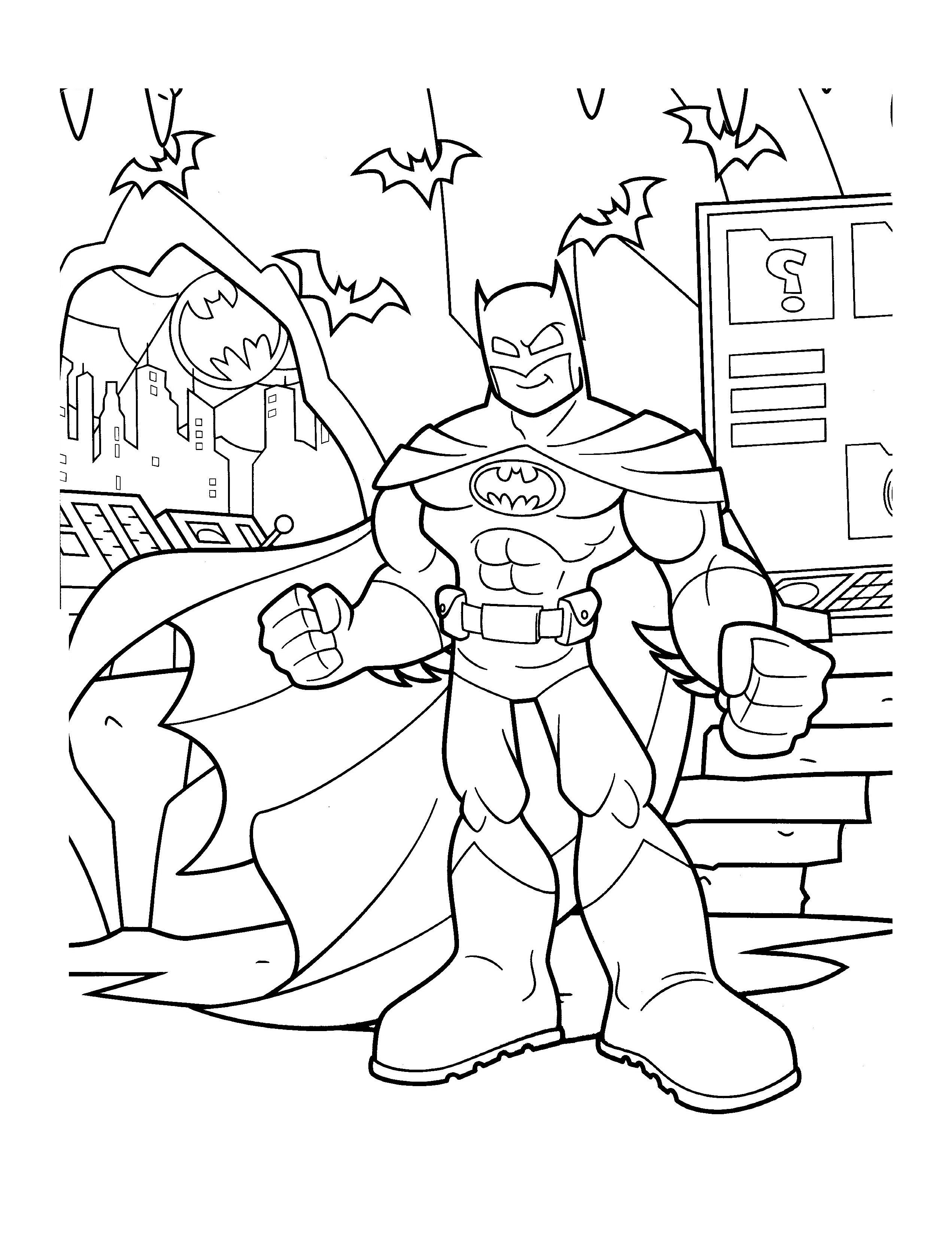 Batman To Print For Free Batman Kids Coloring Pages