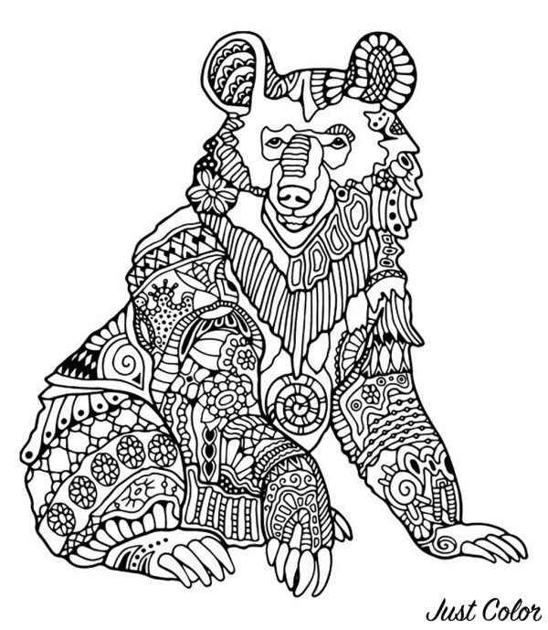 coloring pages of bears # 9