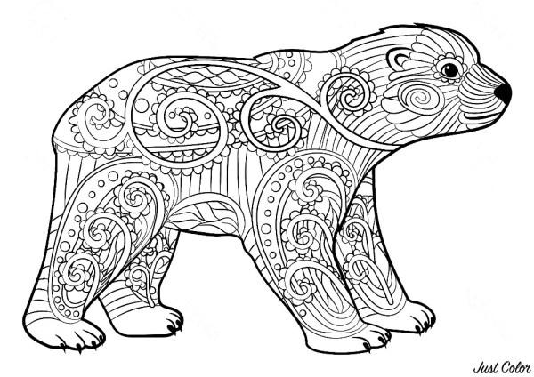 bears coloring pages # 30