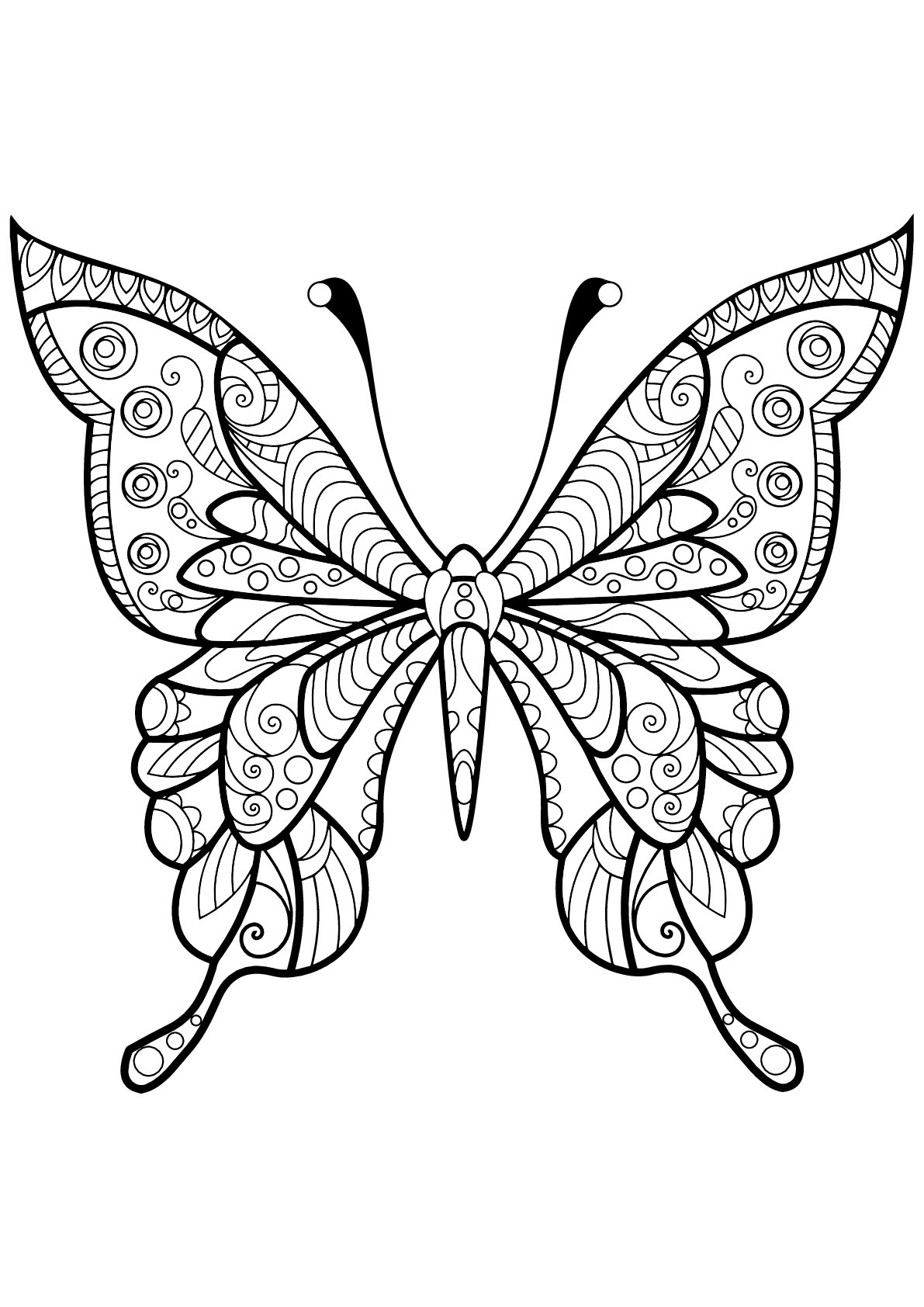 Butterflies Free To Color For Kids Butterflies Kids Coloring Pages