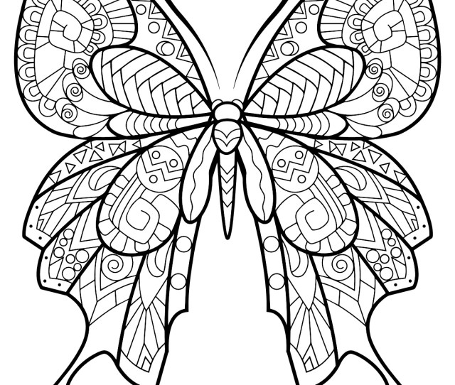 Butterflies To Color For Kids Butterflies Kids Coloring Pages