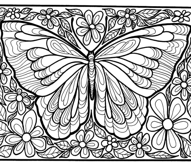 Butterflies For Children Butterflies Kids Coloring Pages
