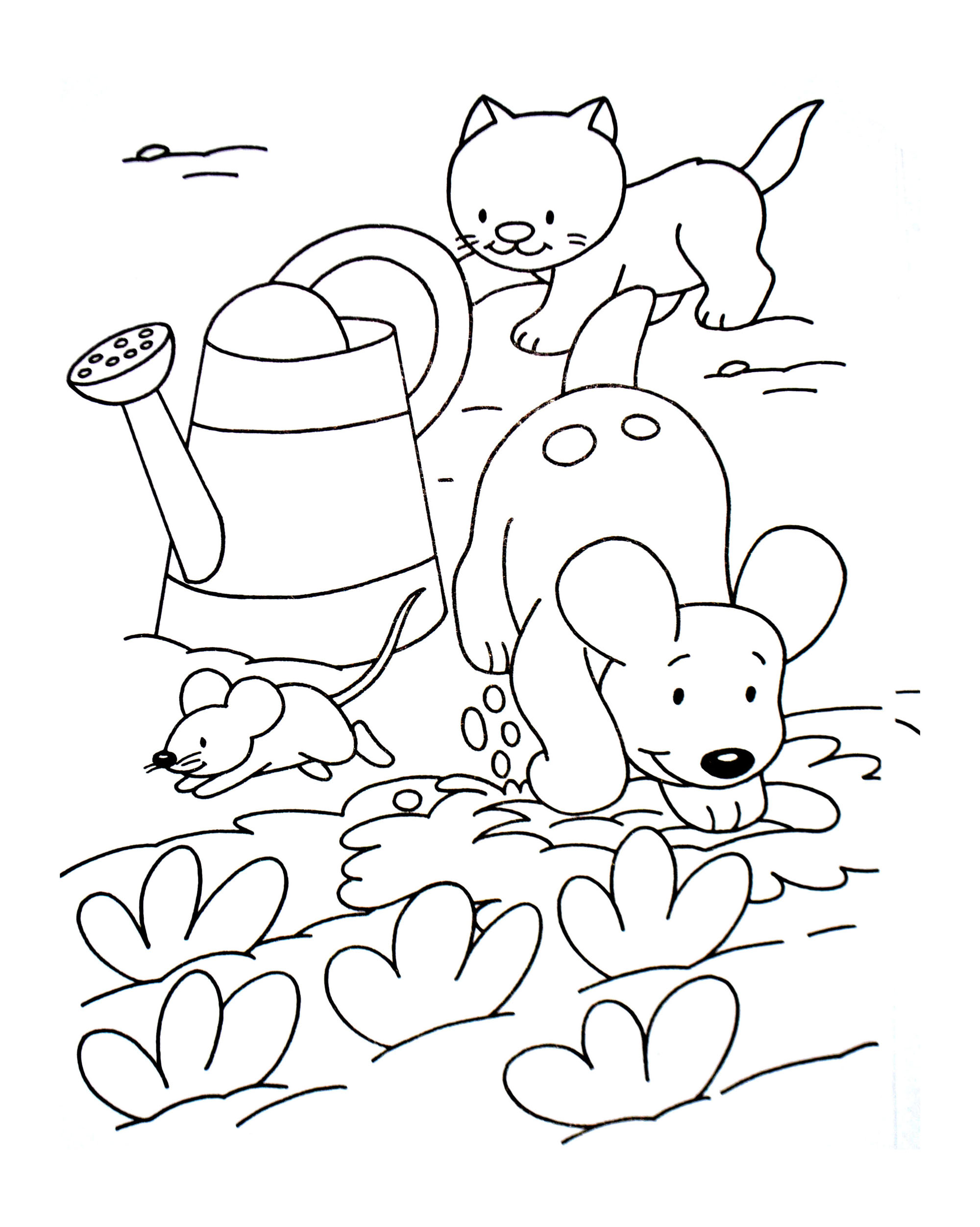 Cats To Color For Children