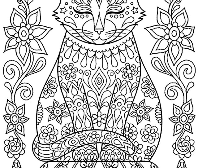 Cat To Download Cat On Pillow Cats Kids Coloring Pages