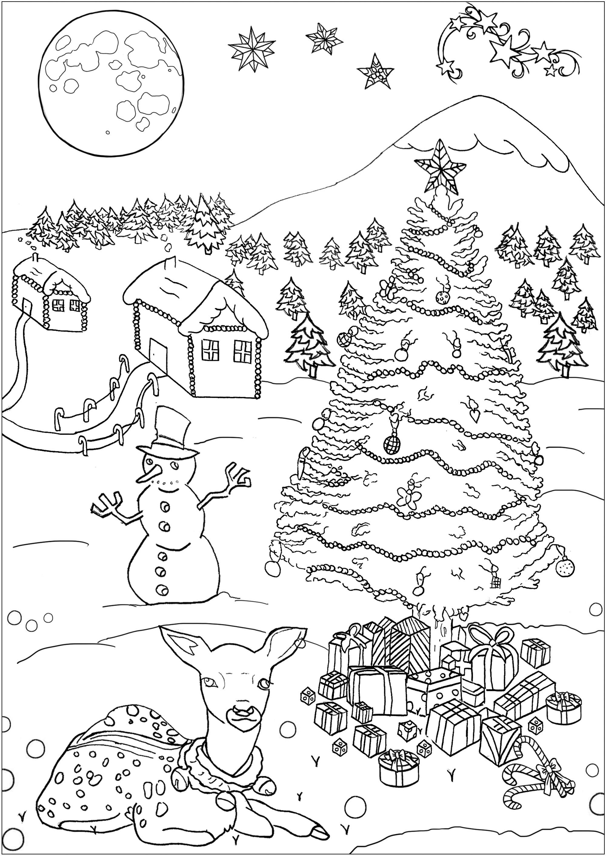 Christmas Free To Color For Children