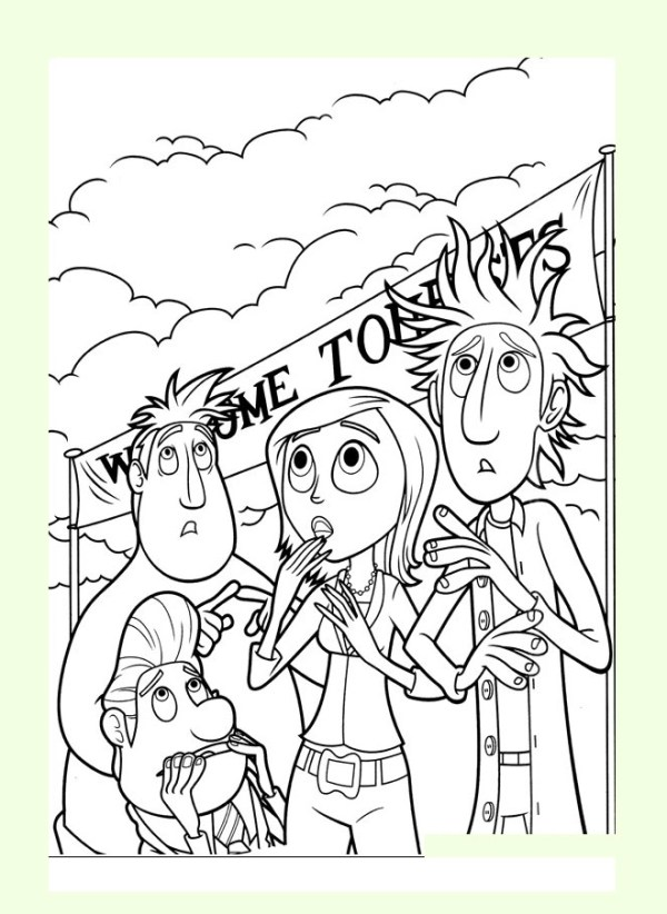 cloudy with a chance of meatballs coloring pages # 8
