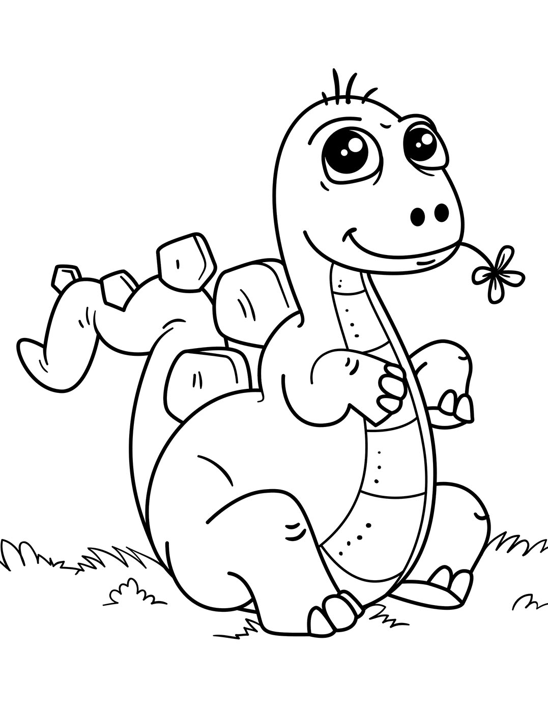 Dinosaurs To Color For Kids Ba Dinosaurs Kids Coloring Pages