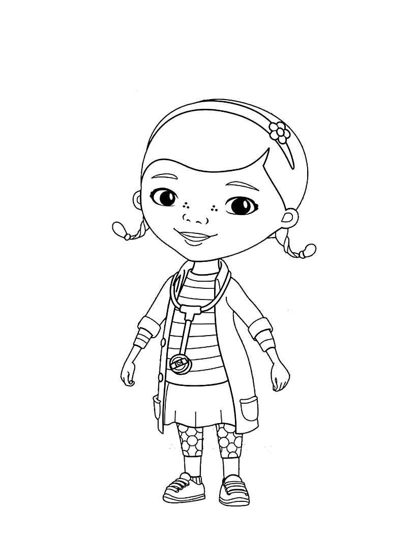 Doc Mcstuffins Free To Color For Children Doc Mcstuffins Kids Coloring Pages
