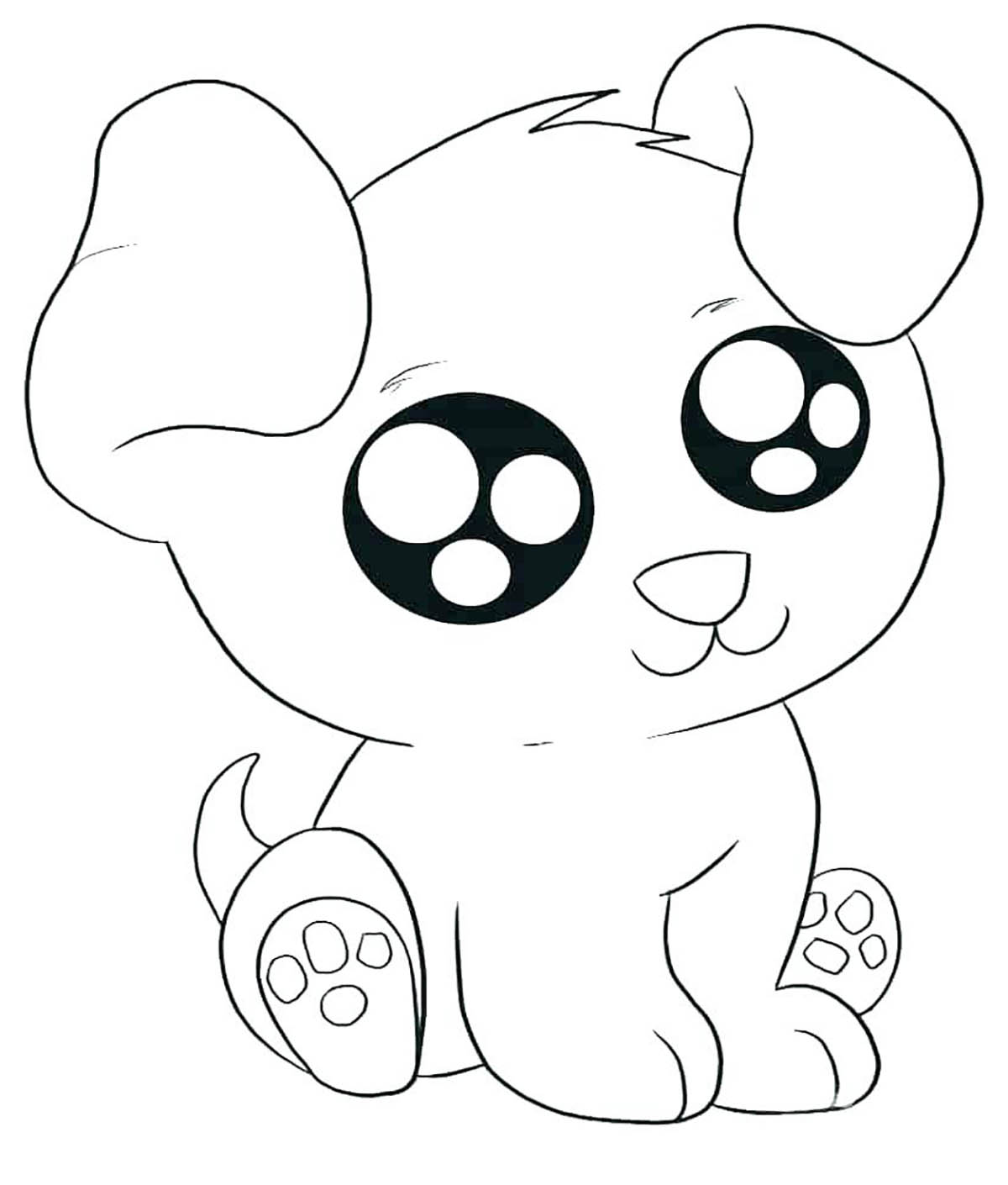 Dogs To Print Kawai Dog Dogs Kids Coloring Pages