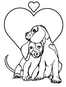 dog printable coloring pages # 1