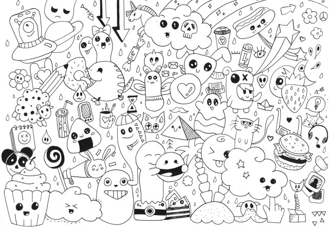 Doodle art to print for free - Doodle Art Kids Coloring Pages