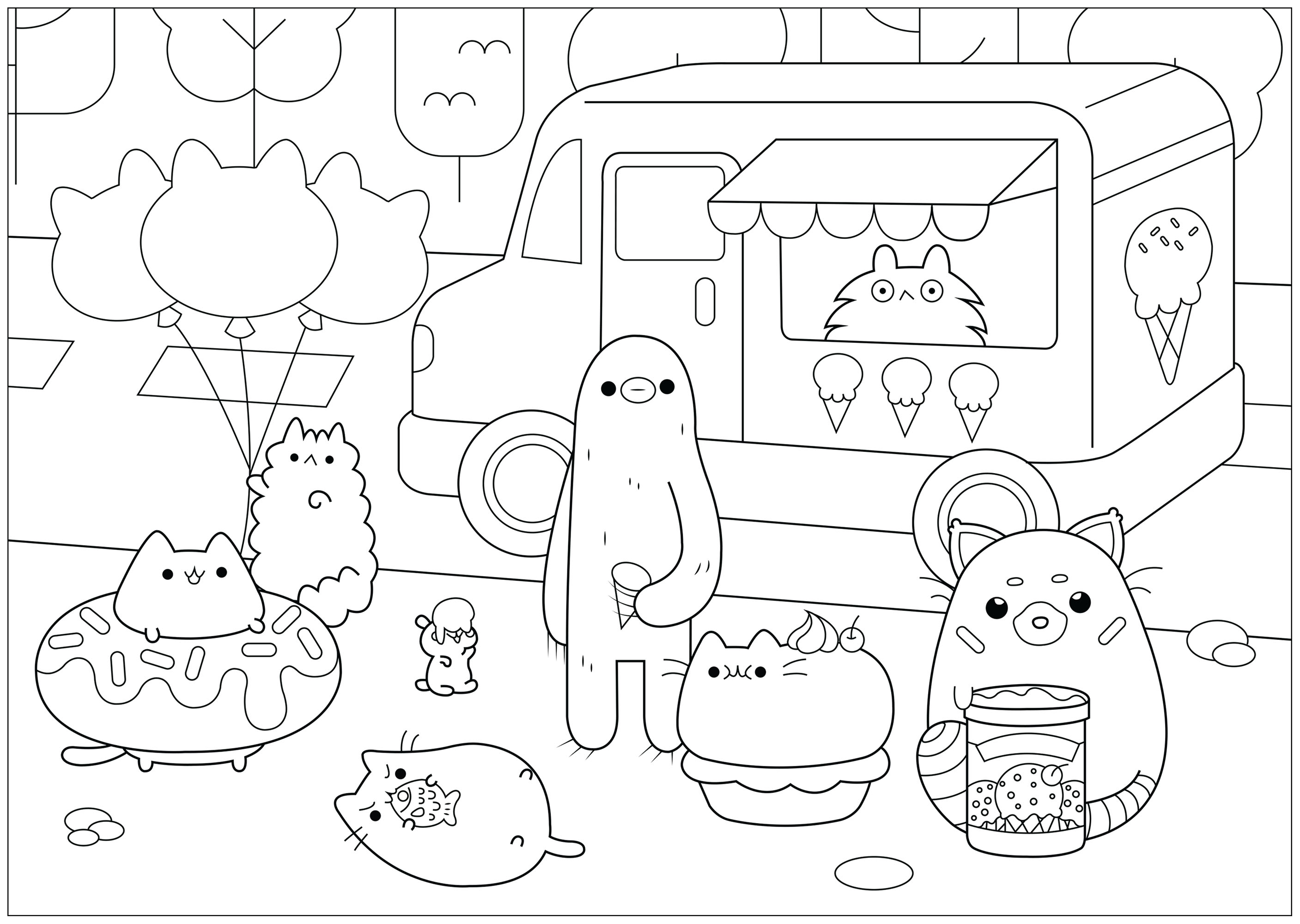 Doodle Art Free To Color For Children