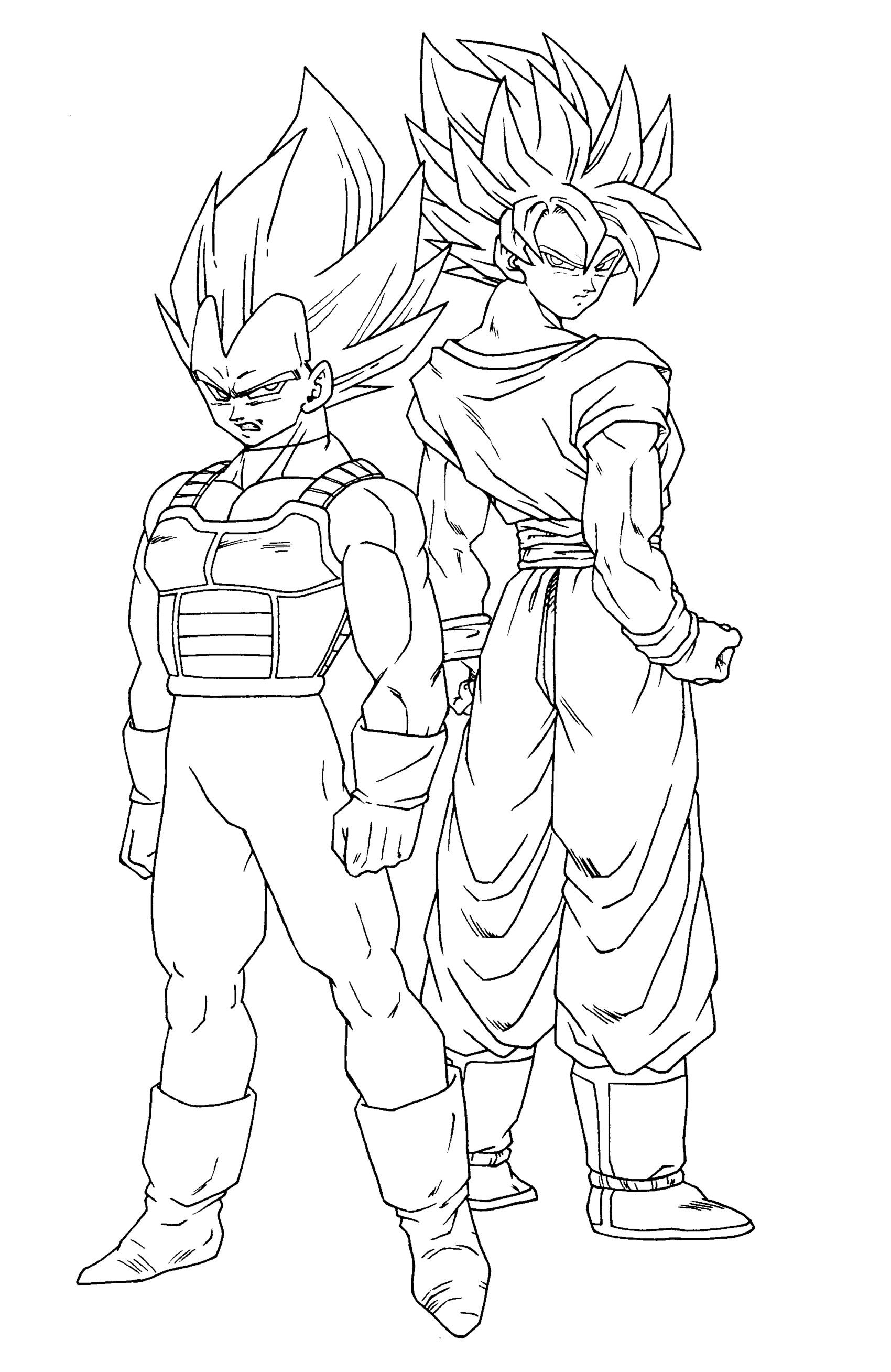 Super Vegito Coloring Pages Auto Electrical Wiring Diagram