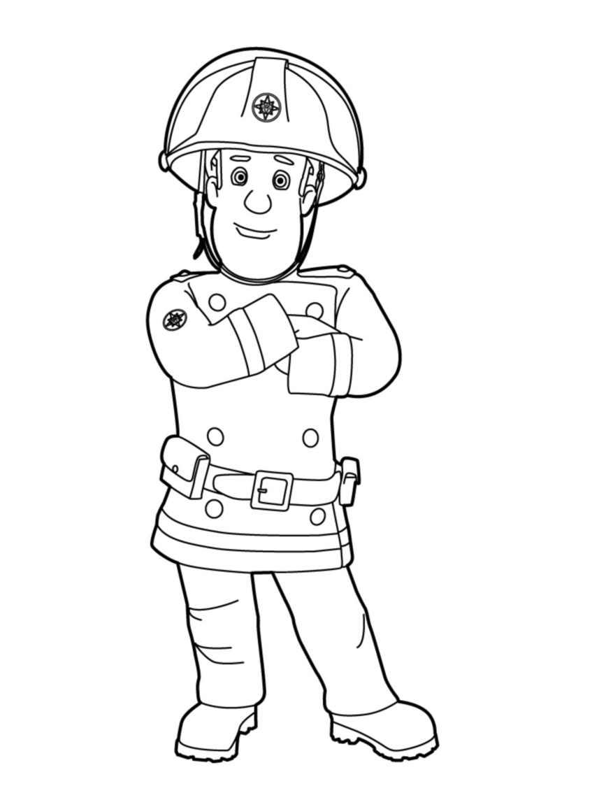 Gratis Malvorlagen Feuerwehrmann Sam