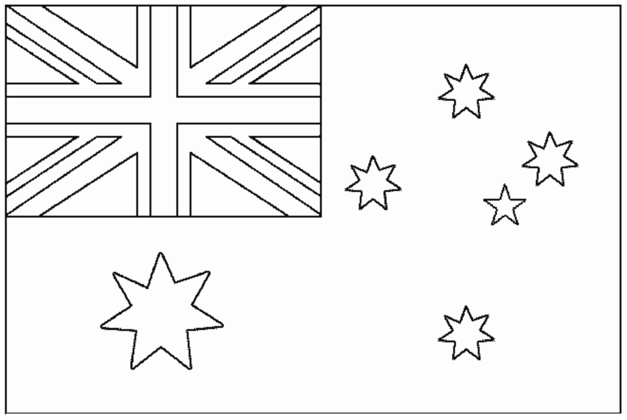 Flags Free To Color For Kids