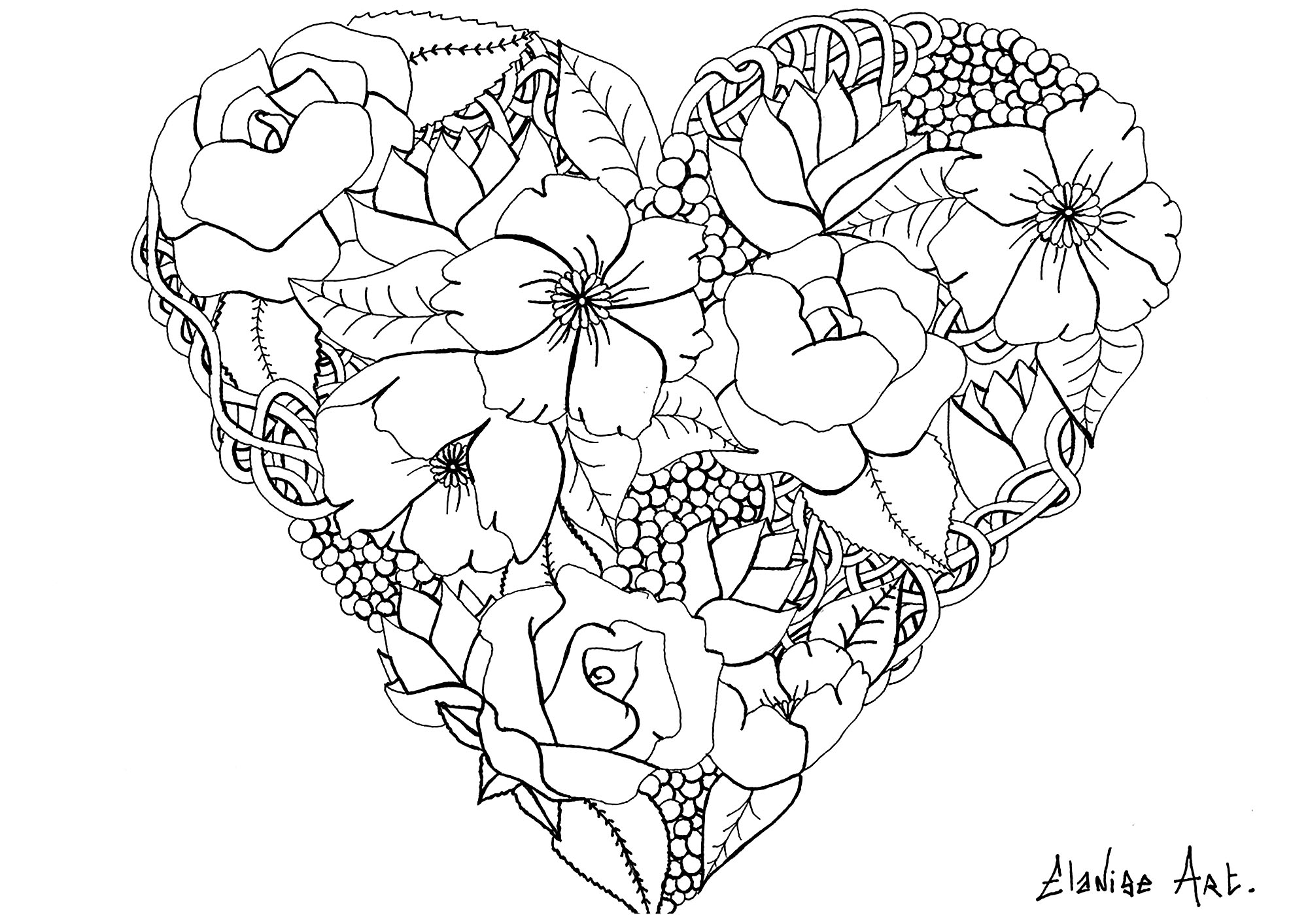 Flowers Free To Color For Kids
