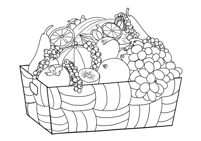 Fruits and vegetables to print - Fruits And Vegetables Kids