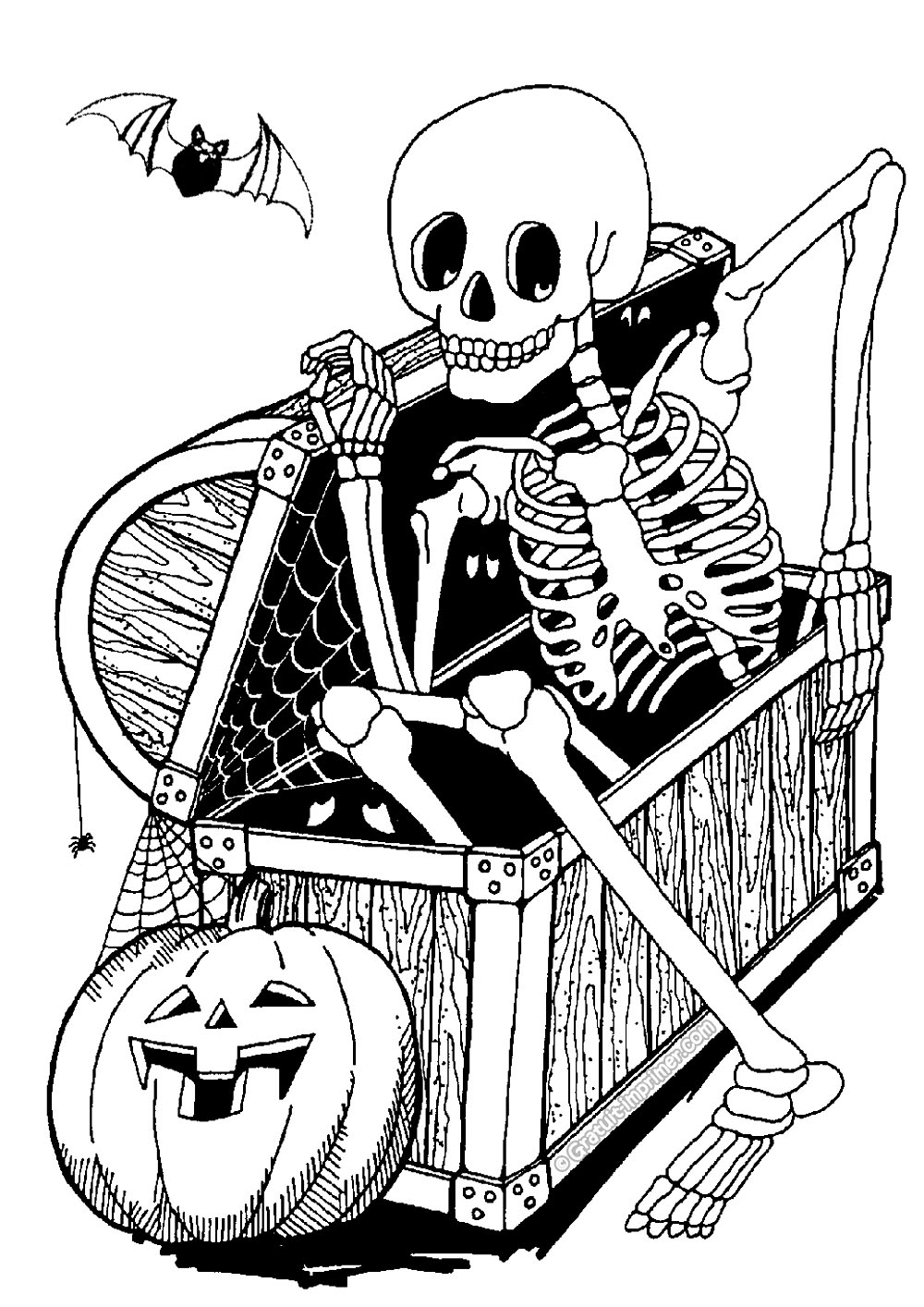 halloween free to color