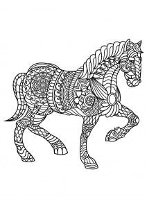 horse coloring pages free # 9